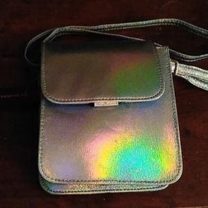 NWT Metallic Crossbody Purse